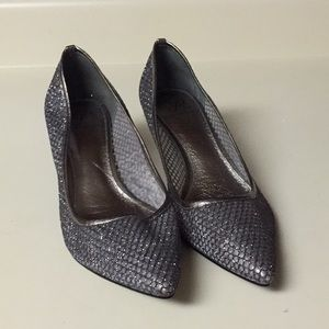 Adrianna papell silver gunmetal dress shoes 8.5